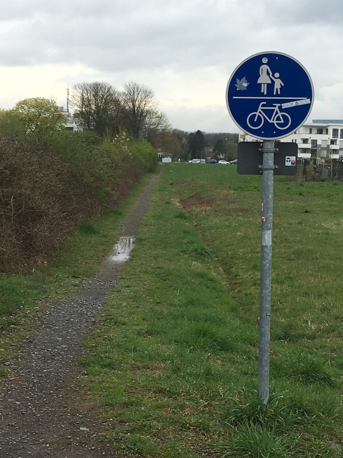 Benutzungspflichtiger Fuß- und Radweg